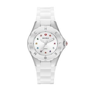 MICHELE Tahitian Jelly Bean Carousel Watch, White